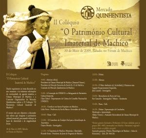 """II Coloquio """"O Património Cultural Imaterial de Machico"""""""